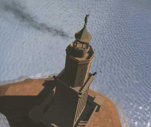 Phare d'Alexandrie. Reconstitution 3d