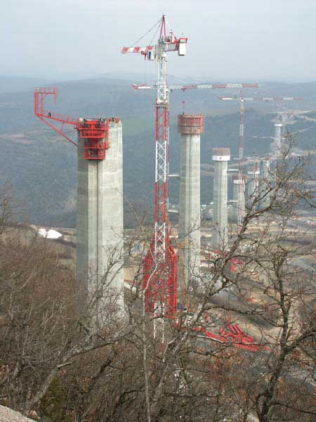 viaduc-de-millau-construction - Photo