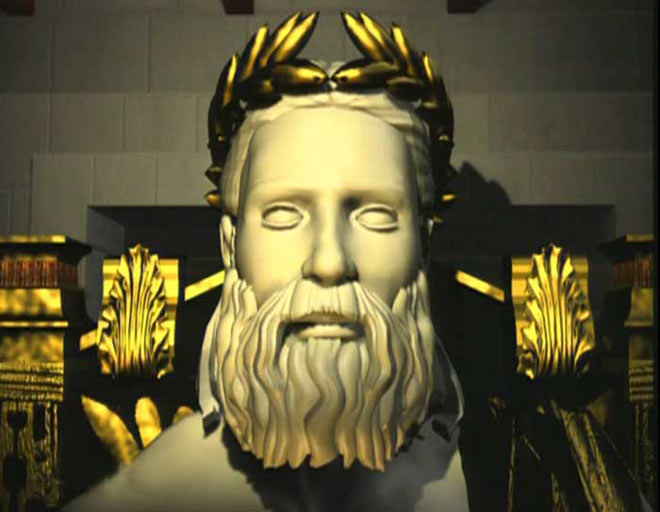 Zeus or poseidon sculpture