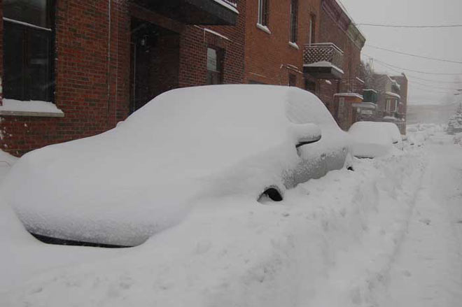 Montreal recouvert de neige
