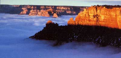 Vent catabatique dans le Grand Canyon