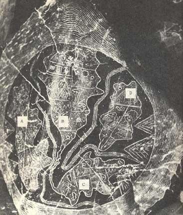 Pierre d'Ica. Carte de la Terre