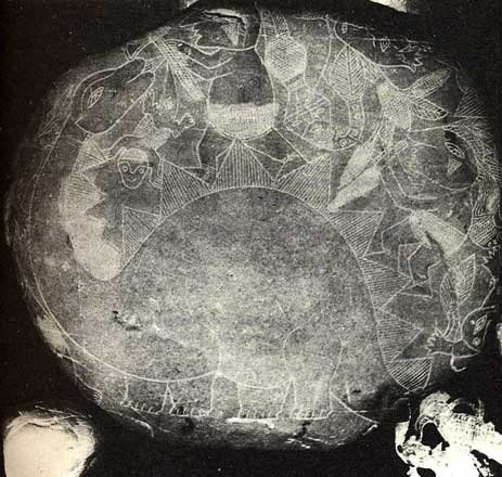 Pierre d'Ica. Dinosaure