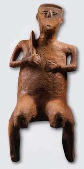 Statuette en terre cuite du Néolithique