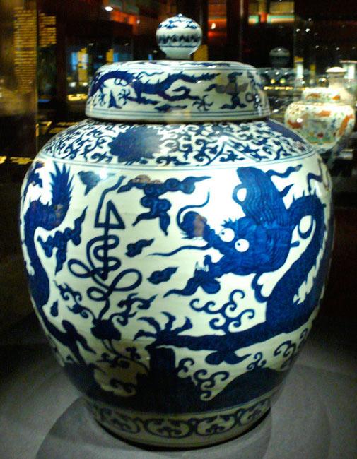 Dragon bleu. Céramique chinoise