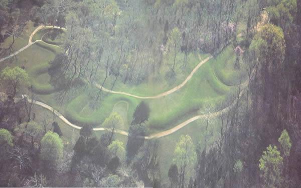 Grand Serpent de l'Ohio vu du ciel