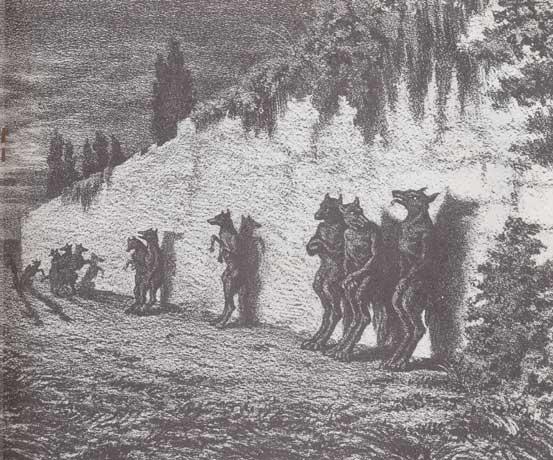Lithographie de la Légende rustique de George Sand