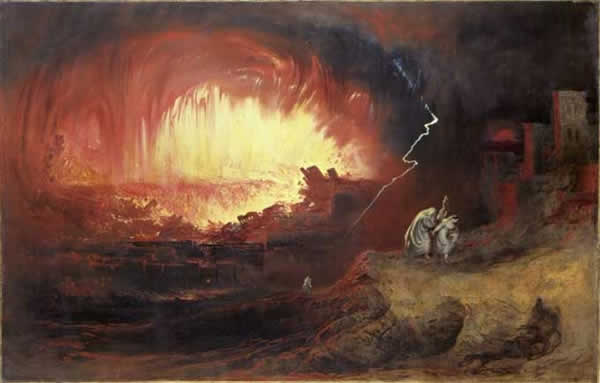 La destruction de Sodomme et gomorrhe, par John Martin, 1832