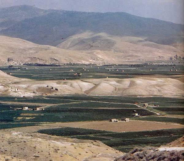 La vallée du Jourdain