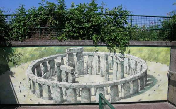 Reconstitution de Stonehenge