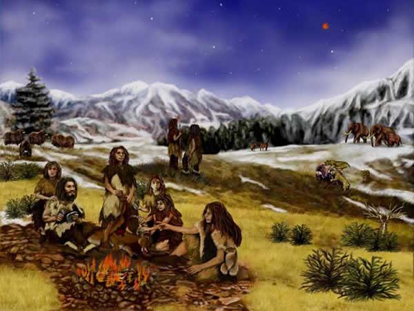Illustration de l'homme de Neandertal