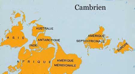 Carte Geologique Australie.Derive Des Continents Du Cambrien A Aujourd Hui Dinosoria