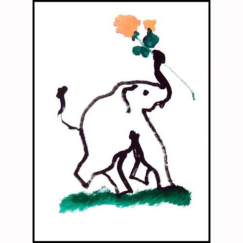 Autoportrait d'une elephant