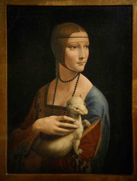 Peinture La femme et l'hermine