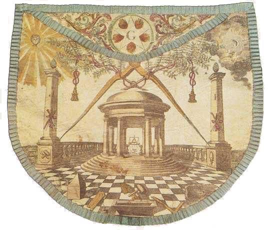 Tablier maçonnique d'Hélvétius
