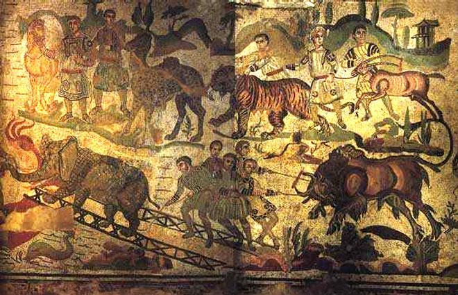 Animaux rome for Dans jeannot et colin l auteur combat