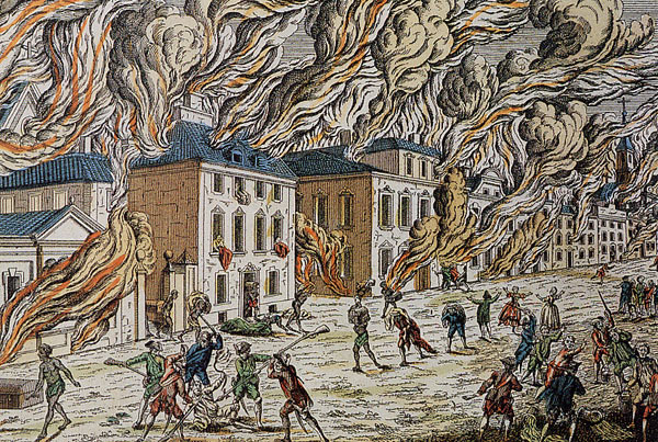 New York en flammes en 1776
