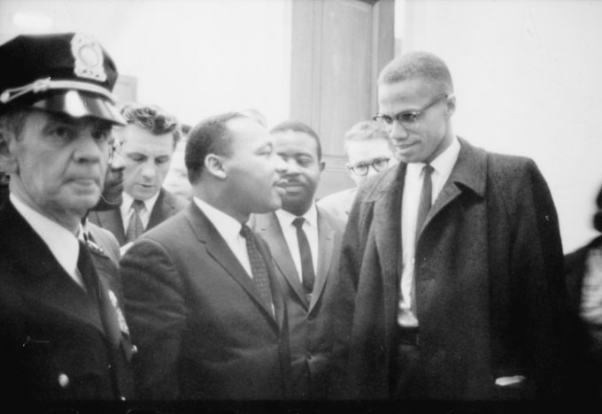Martin Luther King et Malcom X