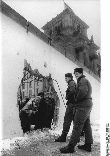 Chute du Mur de Berlin en 1989